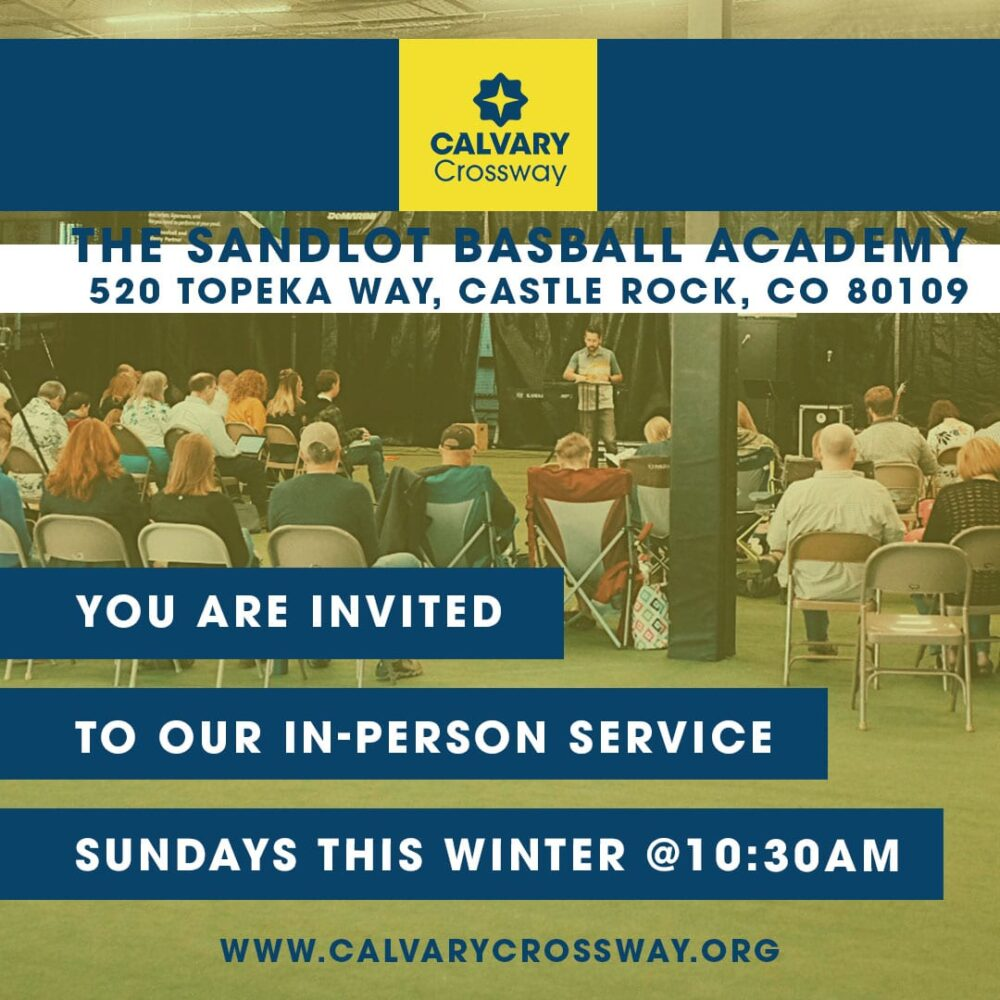 Join us for LIVE worship at the Sandlot